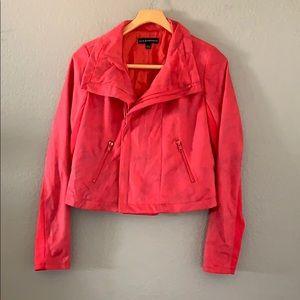 ROCK & REPUBLIC crop animal moto fleece jacket 12